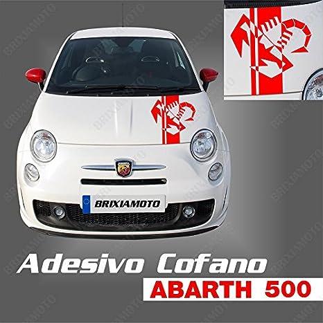 FIAT 500 F//L//R  SCORPIONE  ADESIVO  ROSSO   COFANO MOTORE  GRANDE