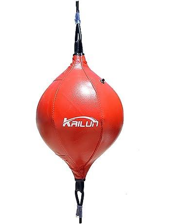 amarillo negro Bola de velocidad de boxeo Bola de boxeo inflable Colgante inflable de doble extremo Velocidad de boxeo Bola de rebote Equipo de entrenamiento de perforaci/ón