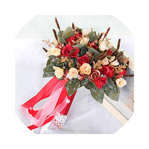 Bouquet De Mariage Artificial Wedding Flowers Wedding Bouquet for Brides Outside Wedding Brooch Bridal Bouquets,StyleA