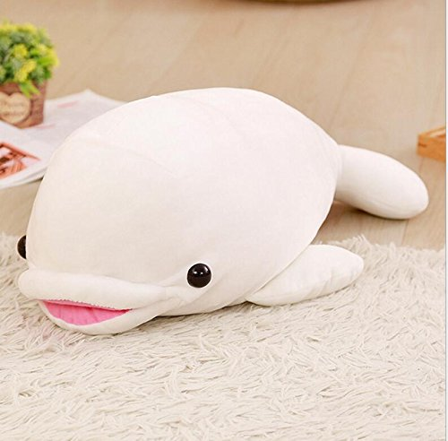 Dalino Soft Stuffed Toys Adorable Dolphin Stuffed Animal Dolphin Present Party Gift Dolphin Pillow Soft and Cuddly Fun Toy 55cm (White) by Dalino