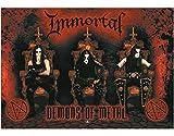 immortal merchandise - NNG Immortal Demons of Metal Textile Poster Flag