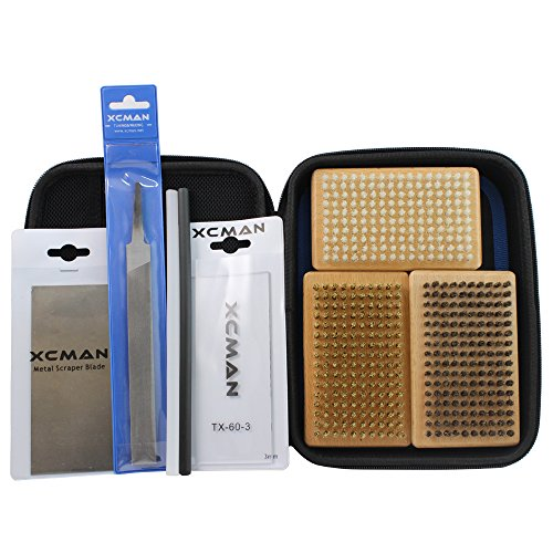 Ski Scraper - XCMAN Oxford 1680D Ski and Snowboard Waxing And Tuning Kit with Wax Brush Bag For Traveling and Storage (Bag with Tuning Tools)