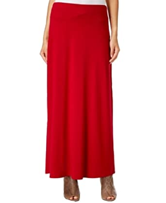 Eci New York Womens Textured Maxi Skirt Red M At Amazon Women S