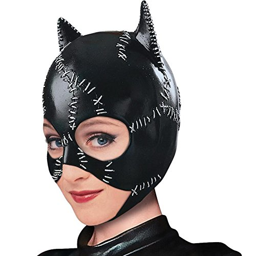 Catwoman Mask Halloween Costume (Rubie's Costume Co Women's Batman DC Style Guide Catwoman Mask, Black, One Size)