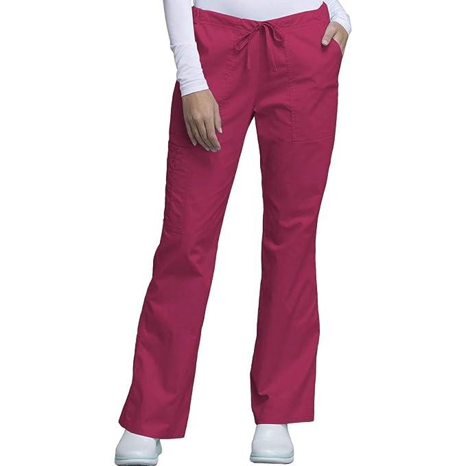 6ffd4829e7d Cherokee Core Stretch Workwear Women s Drawstring Scrub Pant X-Small Petite  Cerise