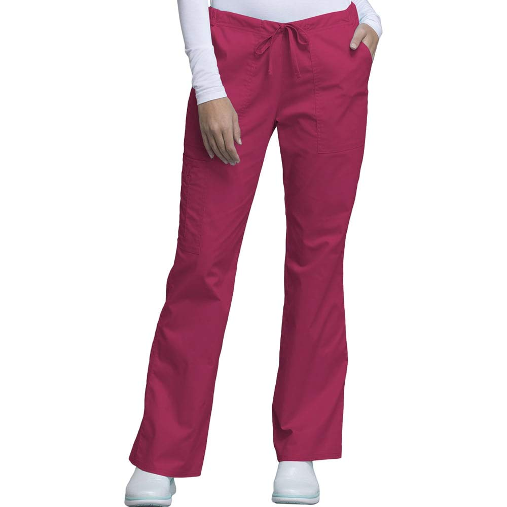 Cherokee Core Stretch by Workwear Women's Drawstring Scrub Pant Medium Cerise