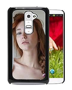 New Custom Designed Cover Case For LG G2 With Blue Eyed Redhead Girl Mobile Wallpaper.jpg