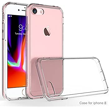 iPhone 8 Case, iPhone 7 Bumper, OEAGO [Ultra Scratch Resistant] [Hybrid Bumper Series] Shockproof Impact Resistance Case and Clear Hard Back Panel for Apple iPhone 8 / iPhone 7 - Crystal Clear