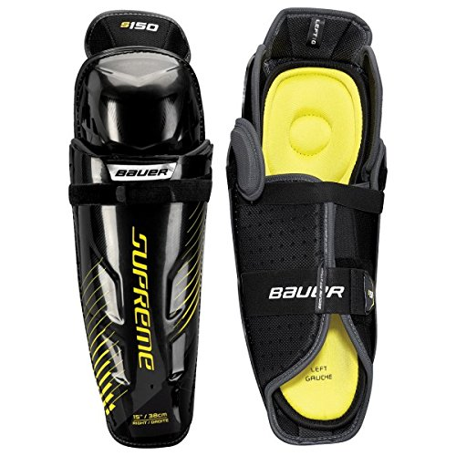 Bauer S17 Supreme S150 Senior Shin Guard, Grey/Black, 14""