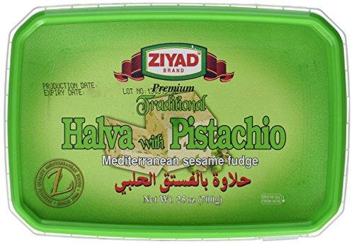 Ziyad Traditional Mediterranean Sesame Fudge Halva, Pistachio, 700 (Pistachio Fudge)