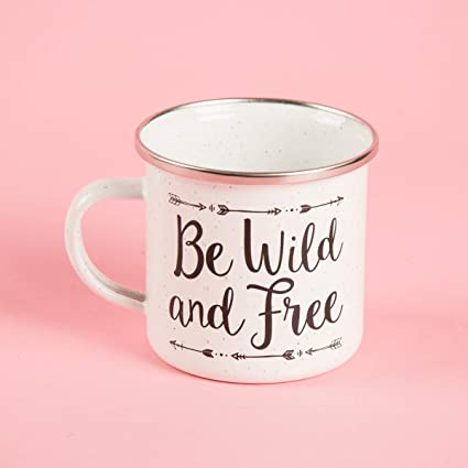 Be Free And Enamel Wild Adventure Mug Belle Sass Speckled deQCxoWrB