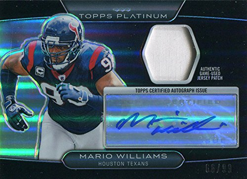 (Mario Williams Autographed 2010 Topps Platinum Jersey Card)