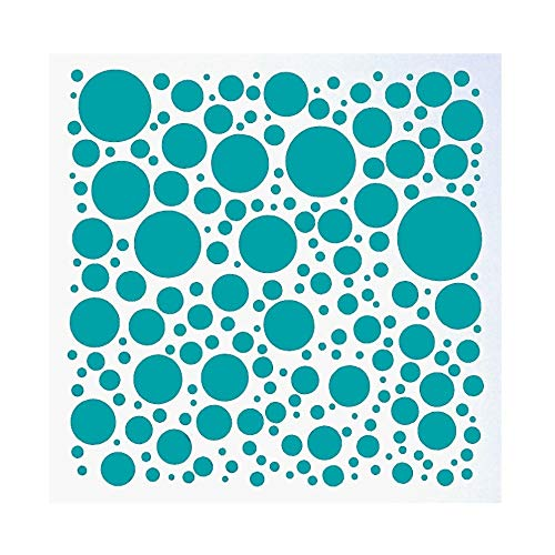 (DIY Decorative Polka Dot Stencil Template for Painting on Walls Furniture Crafts (15.715.7 inch))