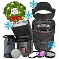 Canon EF 24–105mm f/4L IS USM Lens For Canon T6s T6i 7D Mark II 80D 70D 6D 5D Mark III Mark IV 5DS 5DS R DSLR Cameras