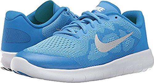 Nike Kids Free Rn (GS) Running Shoe (3.5 US M Big Kid, University Blue) by NIKE
