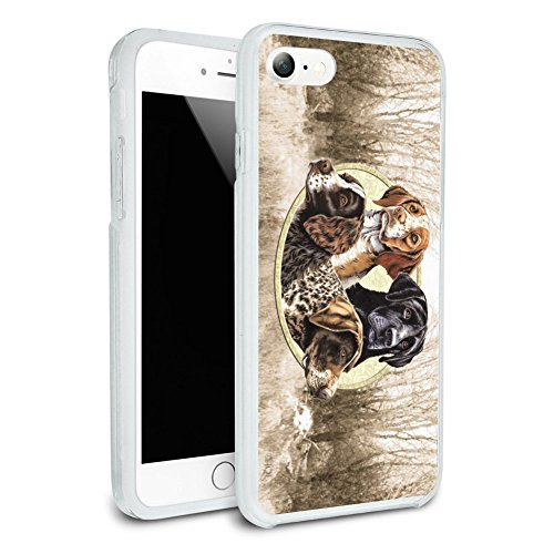 - Dog Hunting Breeds Country Protect and Preserve Protective Slim Fit Hybrid Rubber Bumper Case Fits Apple iPhone 8