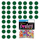 Confetti Circle 1/4'' Green - 8 Half Oz Pouches (4 oz) FREE SHIPPING --- (CCP8553)
