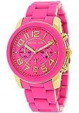 Michael Kors Women's MK5890 Chronograph Mercer Pink Silicone Chronograph Watch