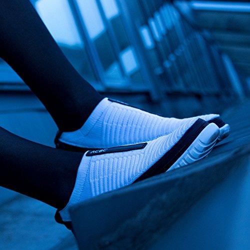 ACBC Scarpa Sneakers con Stringa Ottoman Suola e Scarpa Bianca con Zip