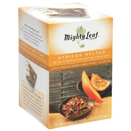 Mighty Leaf Tea African Nectar Herbal Tea Pouches - 6 per case.