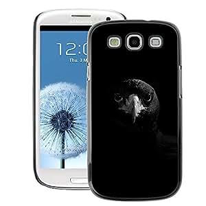 A-type Arte & diseño plástico duro Fundas Cover Cubre Hard Case Cover para Samsung Galaxy S3 (Raven Black Bird Beak Smart Rock Deep)