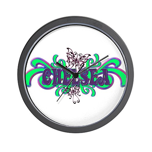 CafePress - Chelsea's Butterfly Name Wall Clock - Unique Decorative 10