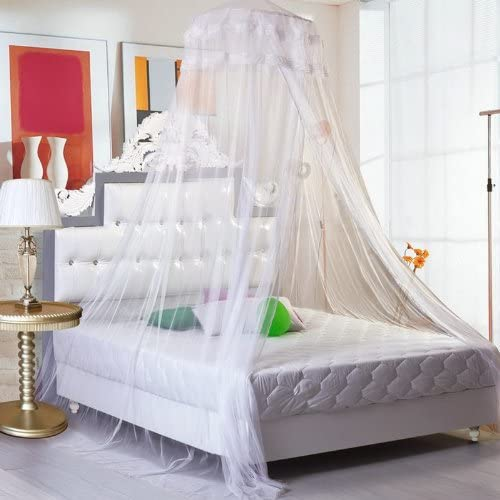 Universal Green Dome Mosquito Net Bed Large Size Mosquito Mesh Net Quick Easy Installation Princess Pastoral Lace Bed Canopy Netting