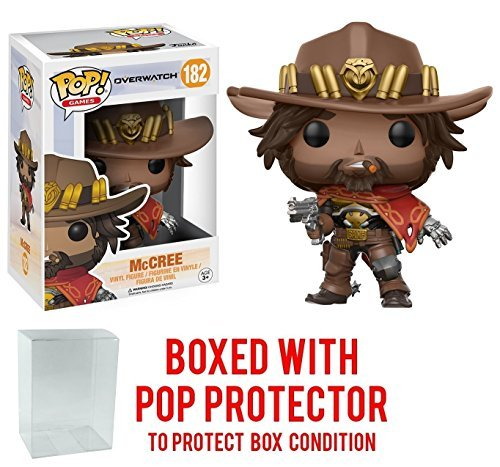Funko Pop! Games: Overwatch Action Figure - McCree Bundled