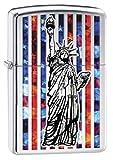 Zippo Lighter: Fusion Statue of Liberty in New York - High Polish Chrome 78204