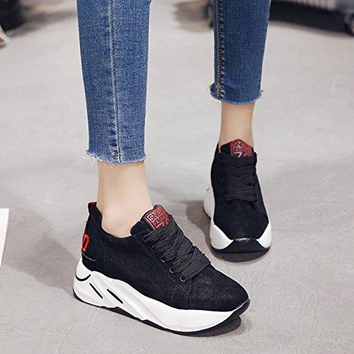 Mujer Virtudes Bizcocho Bajo Grueso Viejos Negro Zapatos Gruesos Deportivos Zapatos Alumnas De GAOLIM Zapatos Zapatos xISqvzSa