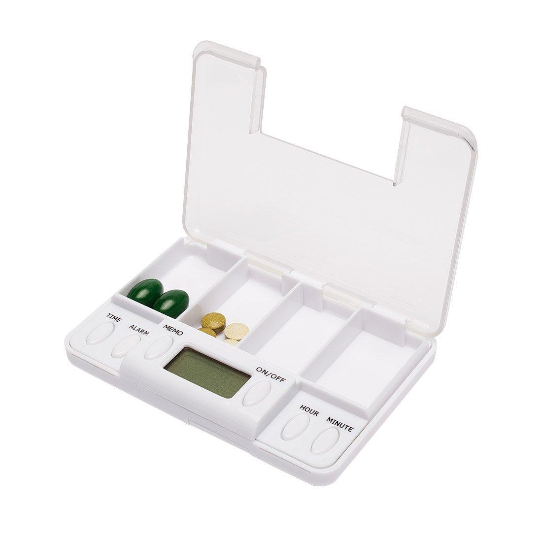 Amazon.com: eDealMax de Tiempo Digital de la caja de presentación Para las píldoras Contenedor de almacenamiento Caso 8 Recordatorio de alarma 2 Día: Health ...