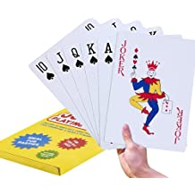 Super Big Giant Jumbo Playing Cards - Full Deck Huge Standard Print Novelty Poker Index Playing Cards - Fun for All Ages! - 8 x 11 inches