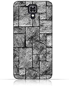 LG X screenTPU Silicone Case with Stoney Wall Pattern Design.
