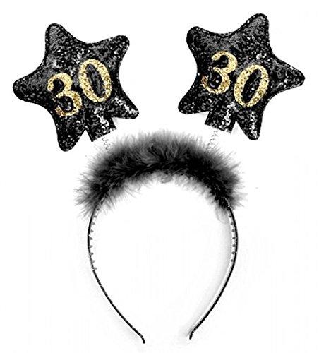 1 Stück LOLLIPOP® Haarreifen '30', schwarz, one size Verkauf durch LOLLIPOP®