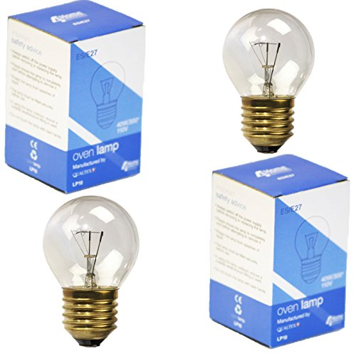 4YourHome 2-PK GE Type Appliance Oven Refrigerator Bulbs 40 Watt Medium Base E27