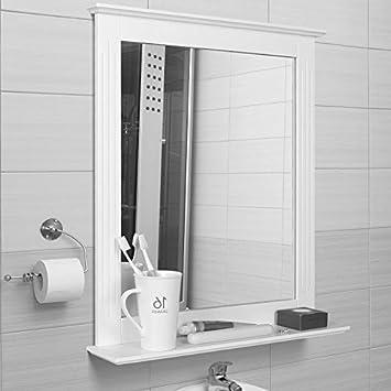 Badspiegel Mit Ablage amazon de homfa 50x60cm wandspiegel badspiegel mit ablage
