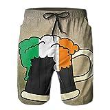 Irish Beer Glasses Pattern Swim Trunks Quick Dry Beach Board Shorts Men Pants Household Shorts