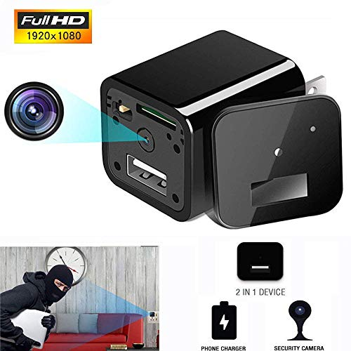 Hidden Spy Camera 1080P HD USB Wall Charger for Home Security Surveillance Baby Pet Monitor Video Recorder Mini Nanny Cam by Funcilit