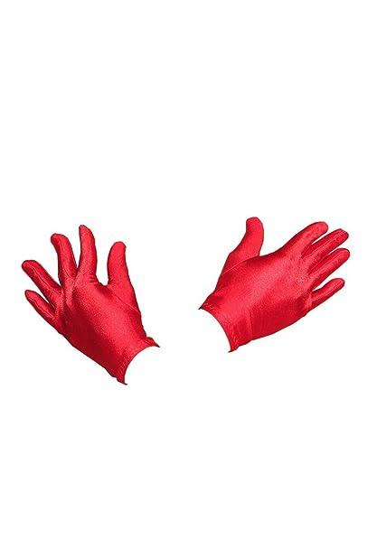 633b52f0efb851 Stilikone Kurze Abend Karneval Fasching Kostüm Handschuhe aus Satin A12714,  Größe:onesize;Farbe:rot: Amazon.de: Bekleidung