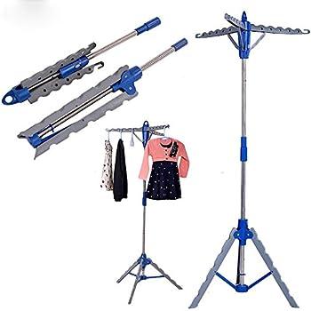 Amazon.com: Clothes Hanger Stand Rack, Folding Portable 3