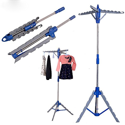 Clothes Hanger Stand Rack, Folding Portable 3-Arm Garment Cl