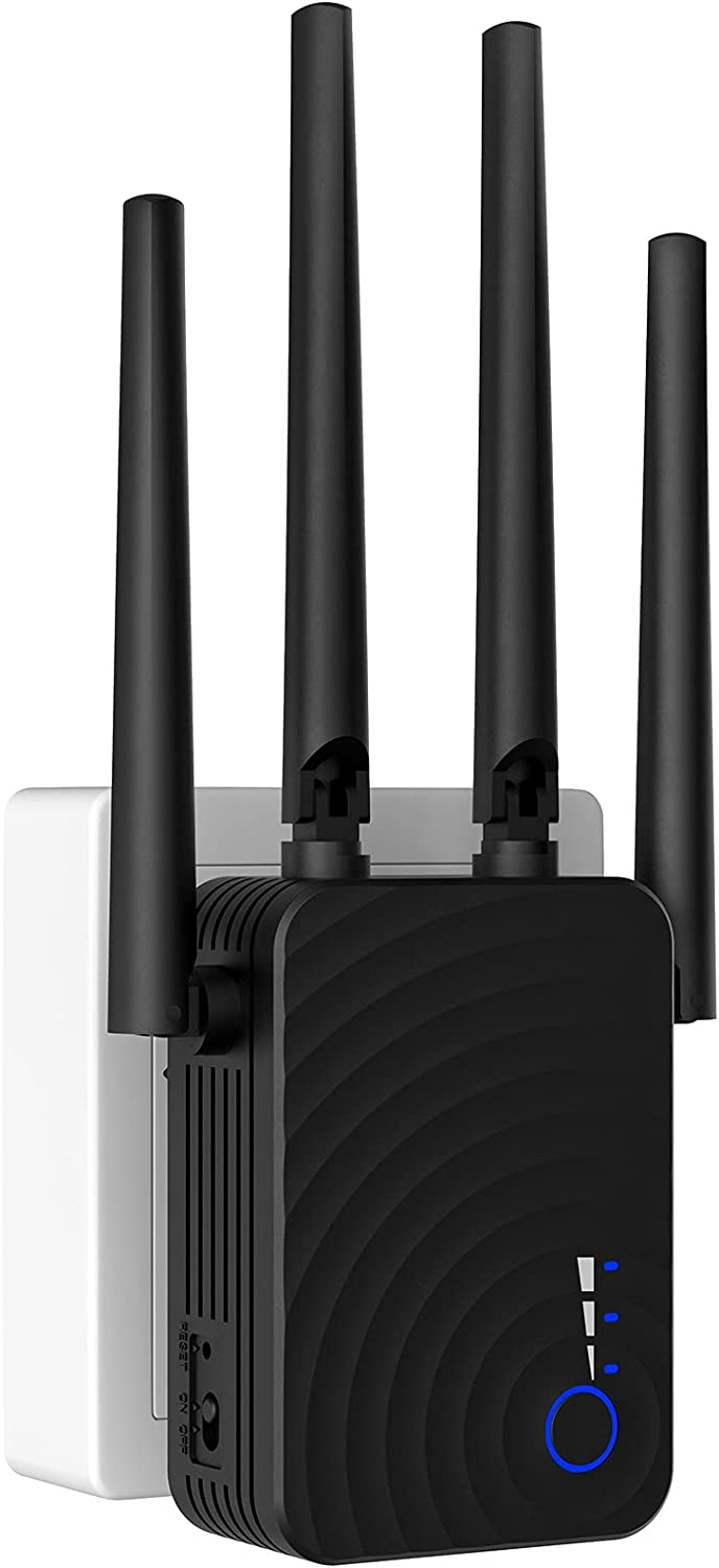 2021 WiFi Booster and Signal Amplifier,Wall-Through Strong WiFi Range Extender 1200Mbps,up to 3000 Sq.ft Full Coverage, Wireless Internet Repeater with Ethernet Port and Access Point