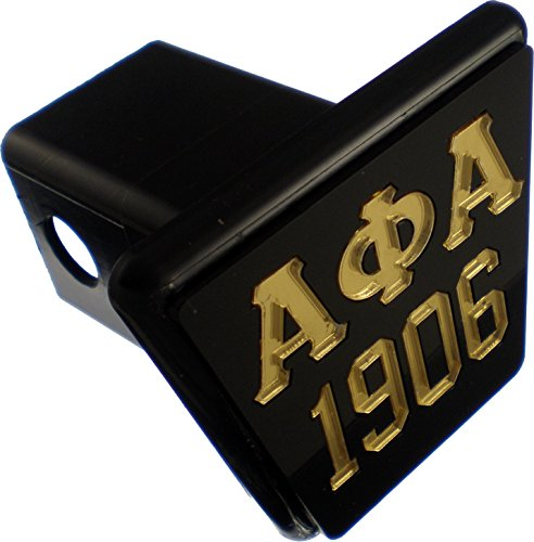 Cultural Exchange Alpha Phi Alpha 1906 Trailer Hitch Cover [Black/Gold - 2