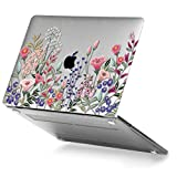 GMYLE MacBook Pro 13 Case 2018 2017 2016 NEWEST Release A1989/A1706/A1708 With/Without Touch Bar & Touch ID Plastic Hard Case Shell Cover - Pink Plum Blossom Floral Garden