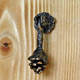 TimberBronze53 Hanging Lodgepole Pine Cone Drawer Pull, Traditional Patina