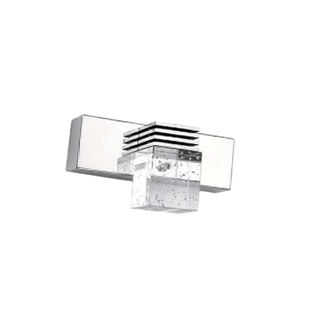Alta Potencia LED Espejo Frente luz Moderna Minimalista Cuarto de baño luz lámpara de Cristal Dormitorio baño iluminación Decorativa lámpara de Pared (Color : Blanco, Tamaño : 14cm) RXL