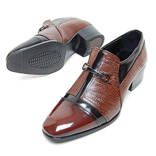 ... Epicstep Menns Ekte Skinnsko Stilig Kjole Formell Business Casual  Oxfords Loafers Brun ...