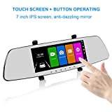 Best HD Touchscreens - SENDOW Mirror Dual Dash Camera 7 Inch 1080P Review