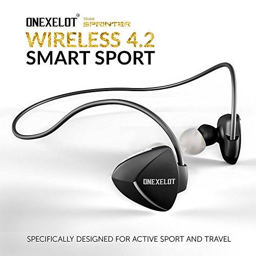SPRINTER Wireless headphones sport bluetooth earbuds with microphone Wireless Earphones sport, wireless earbuds for iPhone,Samsung, Android-ONEXELOT by ONEXELOT