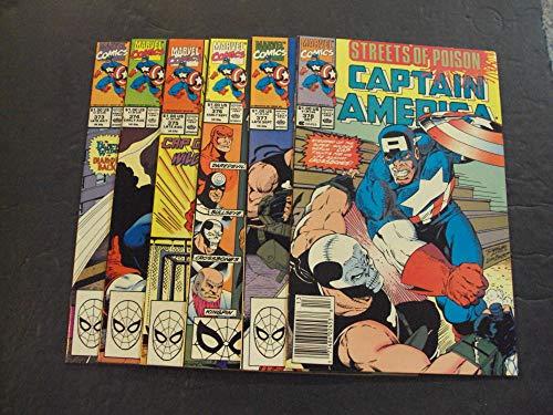 6 Iss Captain America #373-378 Copper Age Marvel Comics